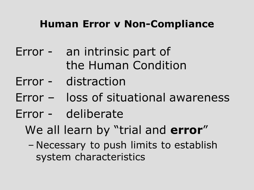 Human Error v Non-Compliance