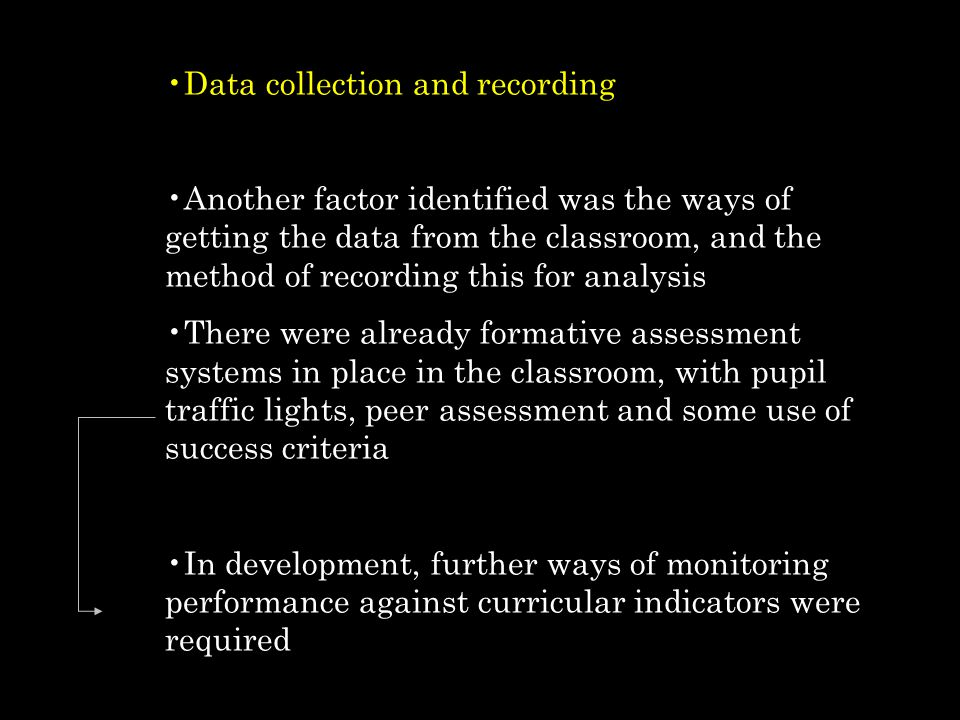 Data collection and recording