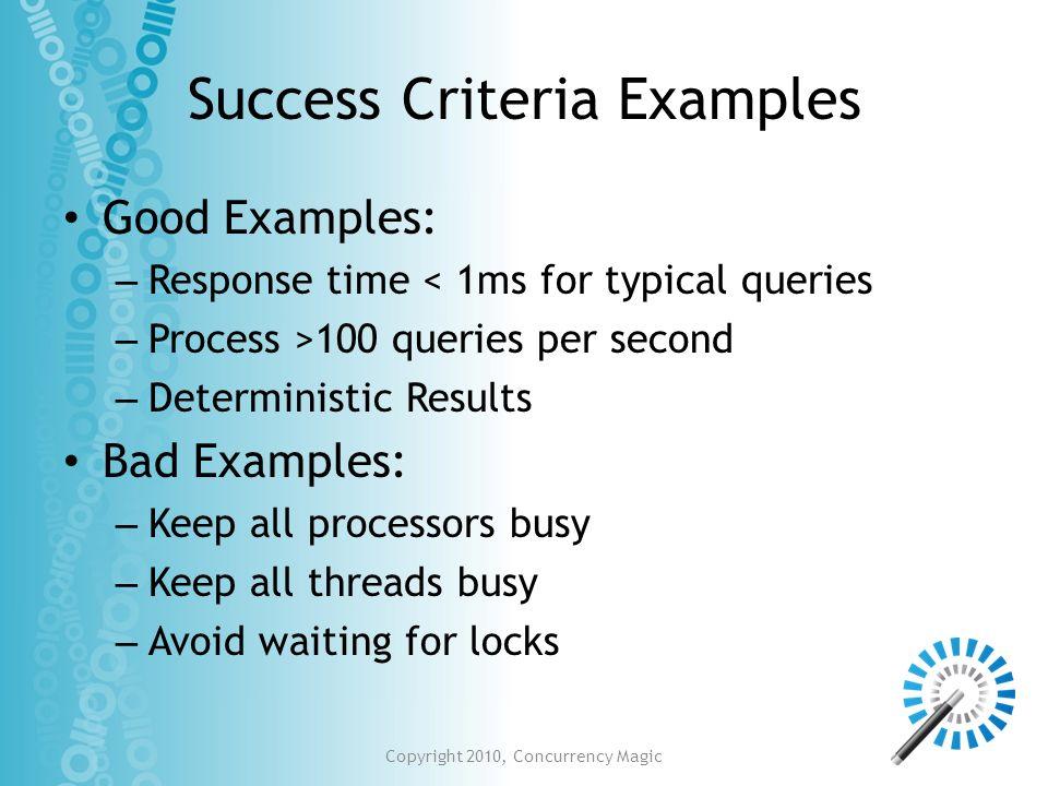 Success Criteria Examples