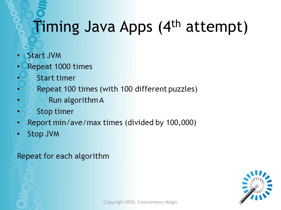 Timing Java Apps (4th attempt)
