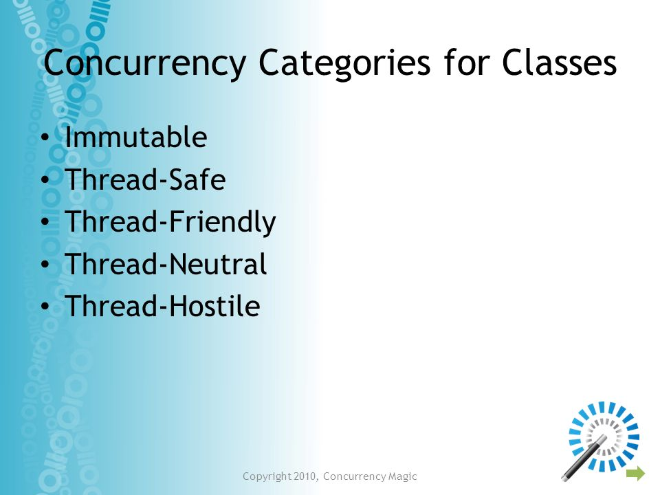 Concurrency Categories for Classes