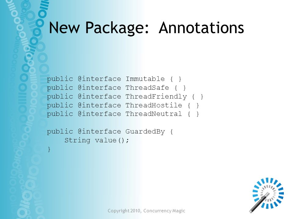 New Package: Annotations