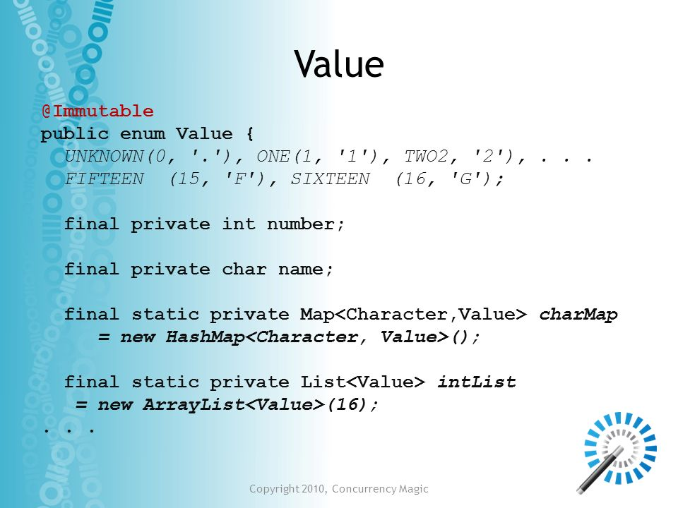 Copyright 2010, Concurrency Magic
