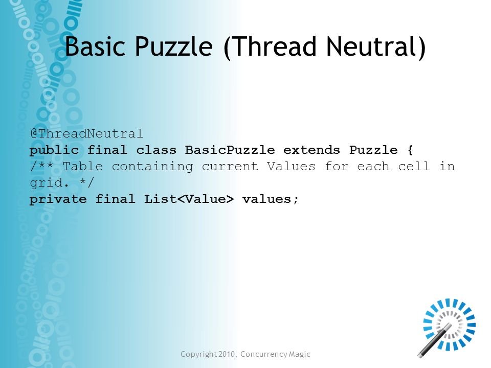 Basic Puzzle (Thread Neutral)
