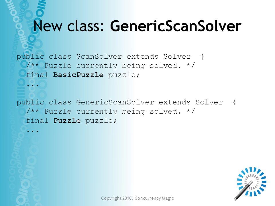 New class: GenericScanSolver