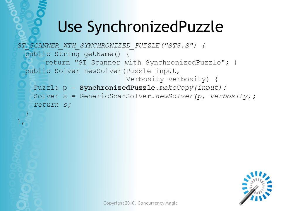 Use SynchronizedPuzzle