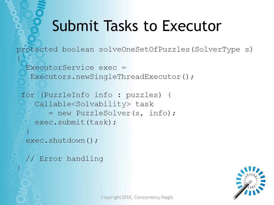 Submit Tasks to Executor