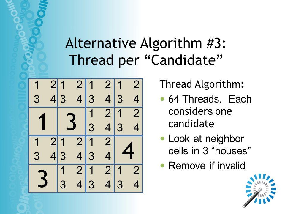Alternative Algorithm #3: Thread per Candidate