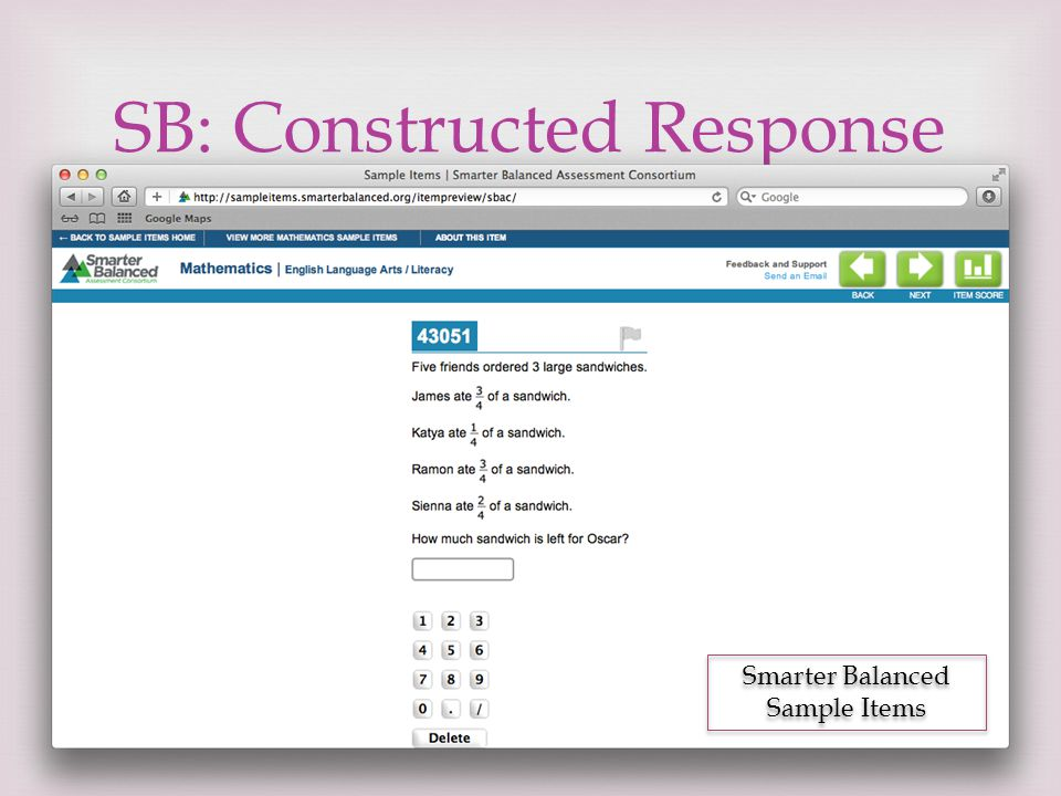 SB: Constructed Response