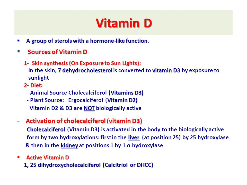 Vitamin D Sources of Vitamin D