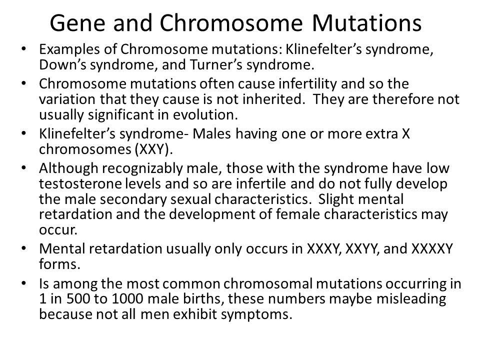 Gene and Chromosome Mutations