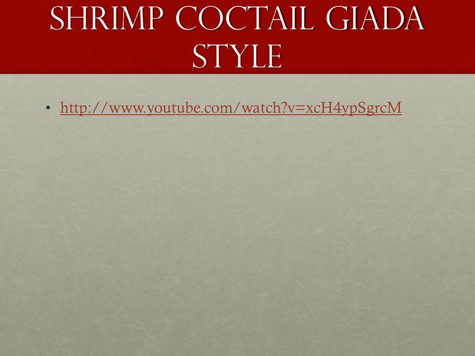 Shrimp coctail Giada style