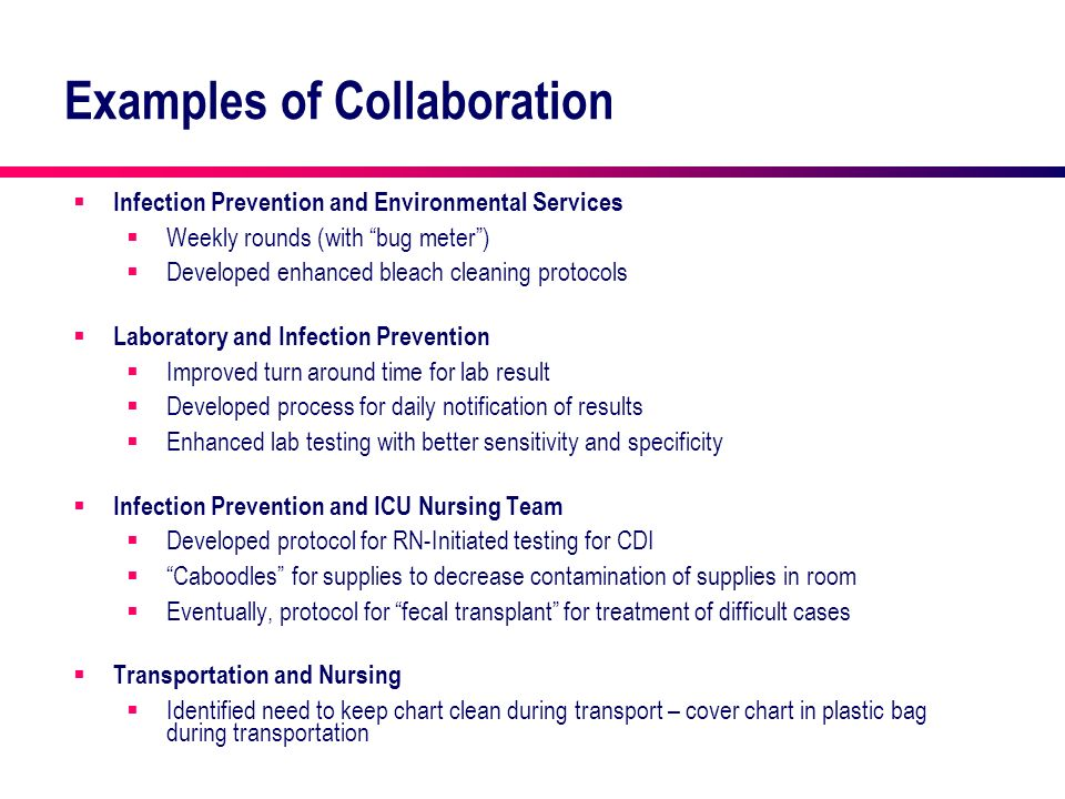 Examples of Collaboration