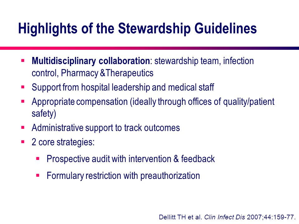 Highlights of the Stewardship Guidelines