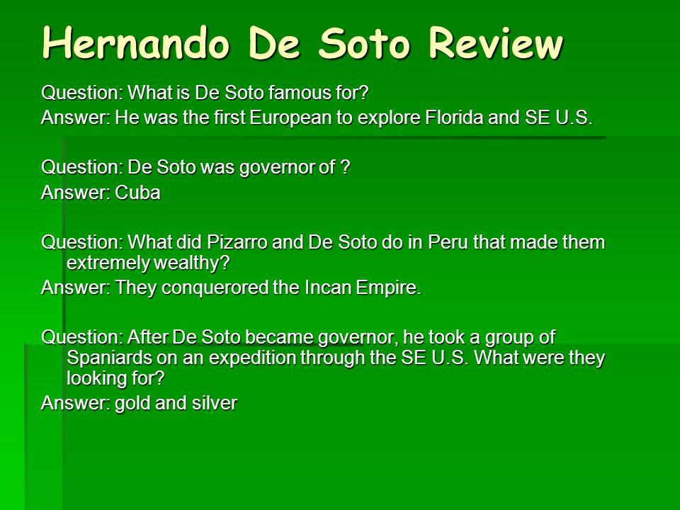 Hernando De Soto Review
