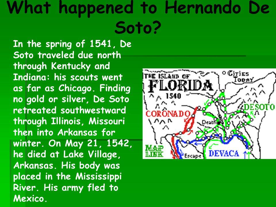 What happened to Hernando De Soto