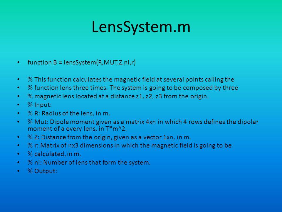 LensSystem.m function B = lensSystem(R,MUT,Z,nl,r)