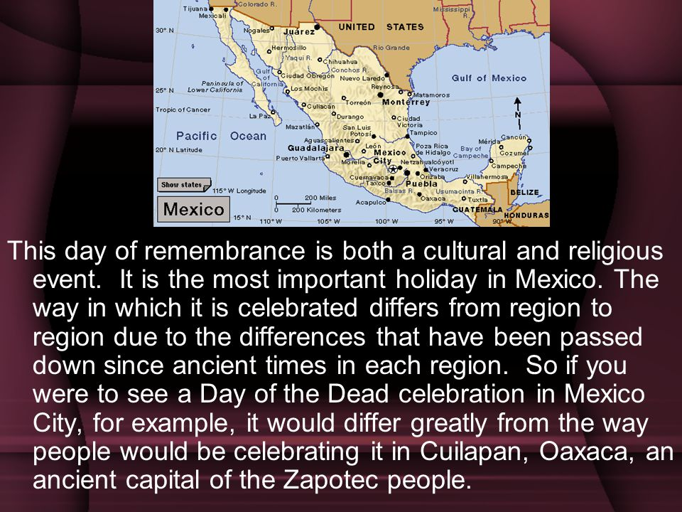 This day of remembrance is both a cultural and religious event
