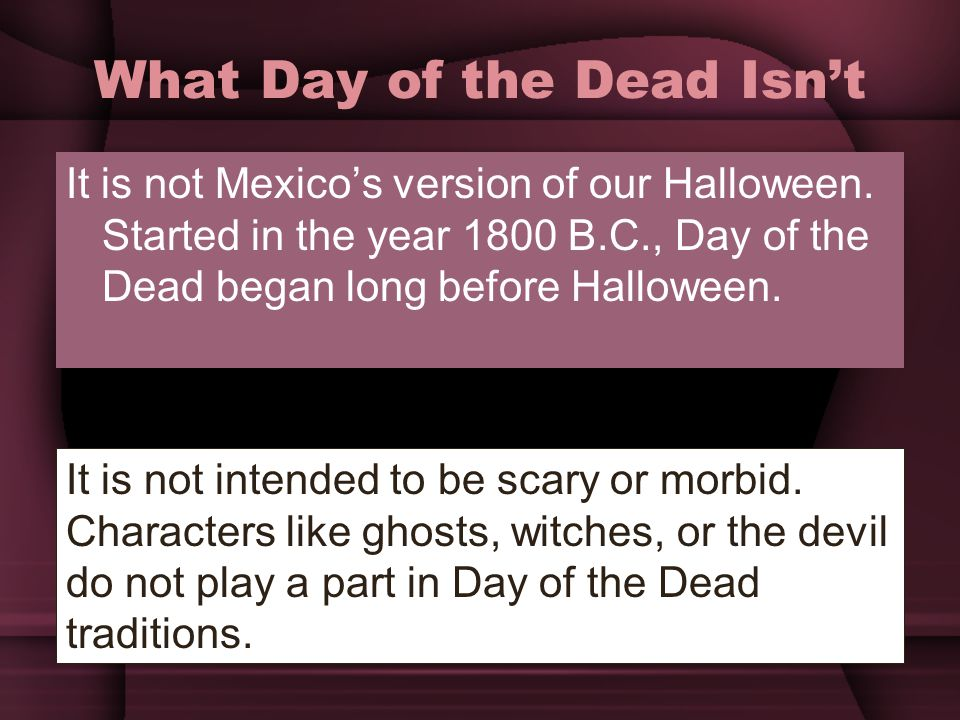 What Day of the Dead Isn't