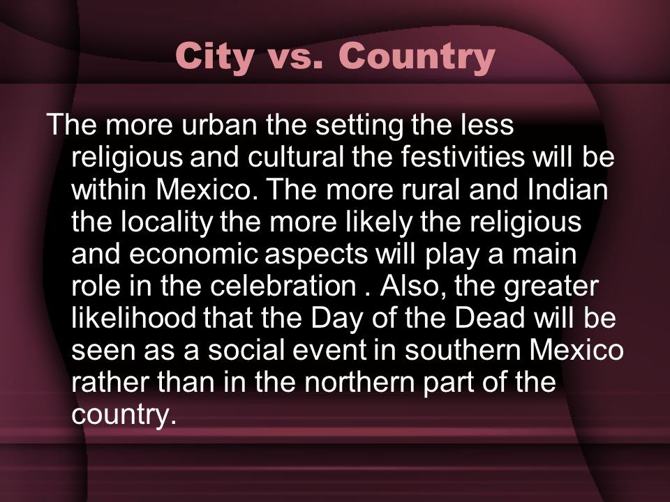 City vs. Country