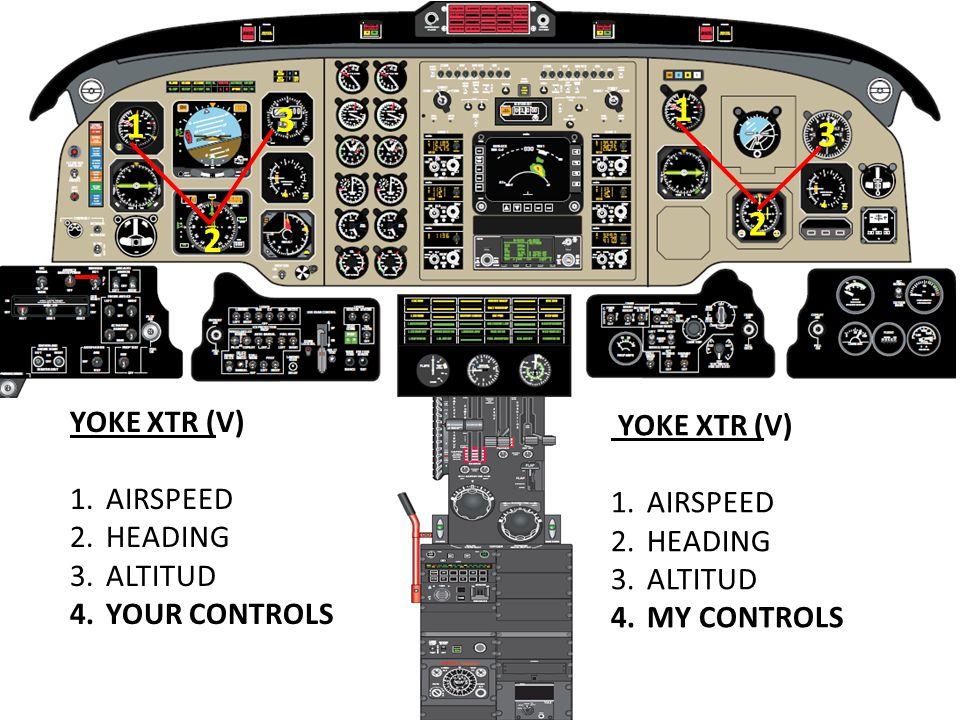 1 3 1 3 2 2 YOKE XTR (V) YOKE XTR (V) AIRSPEED AIRSPEED HEADING