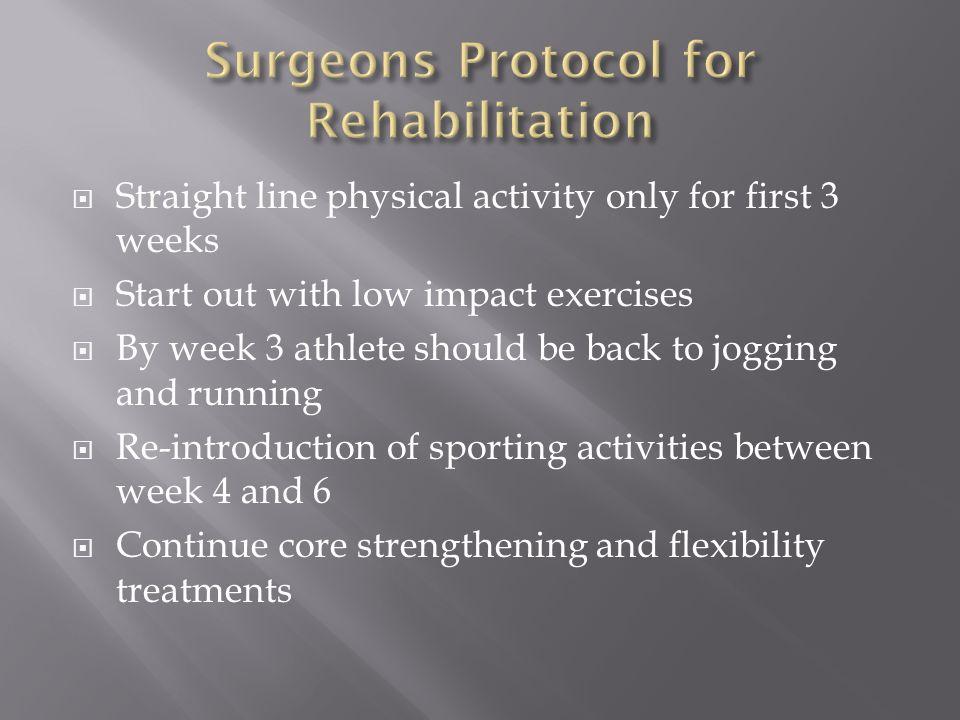 Surgeons Protocol for Rehabilitation