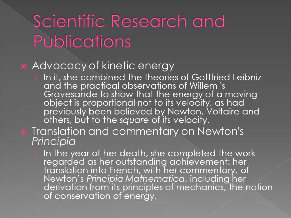 Scientific Research and Publications