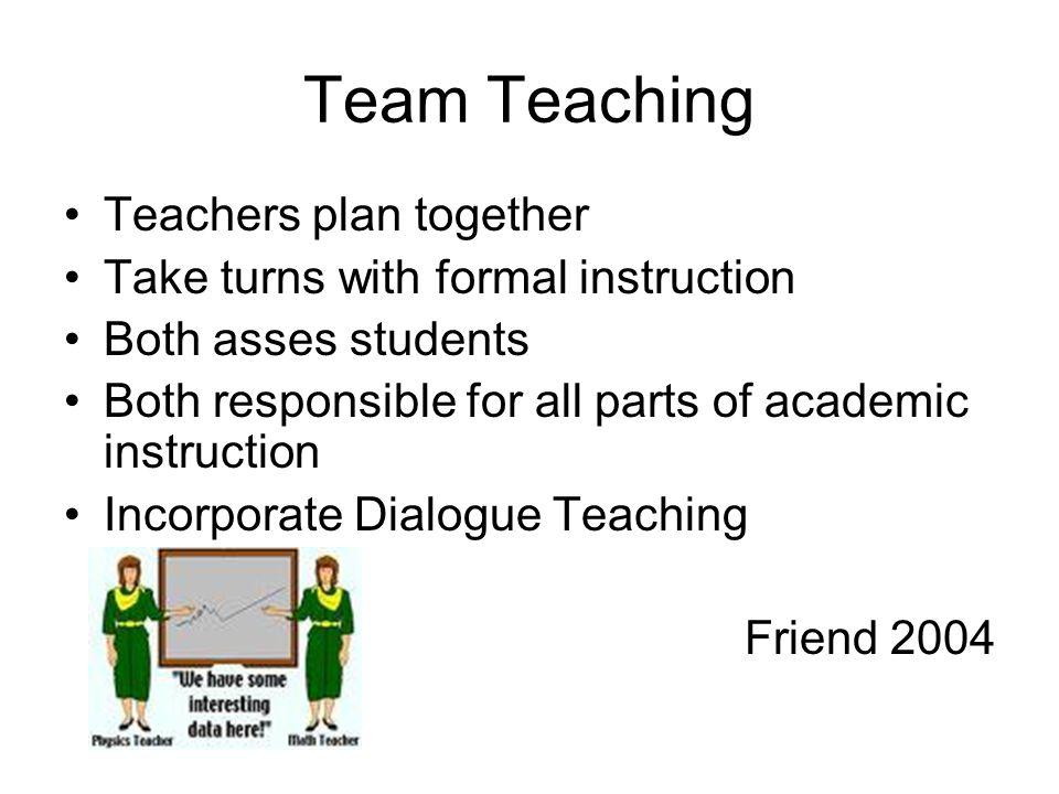 Team Teaching Teachers plan together