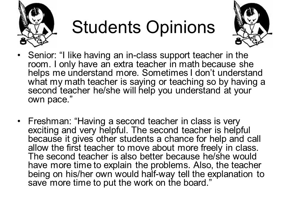 Students Opinions