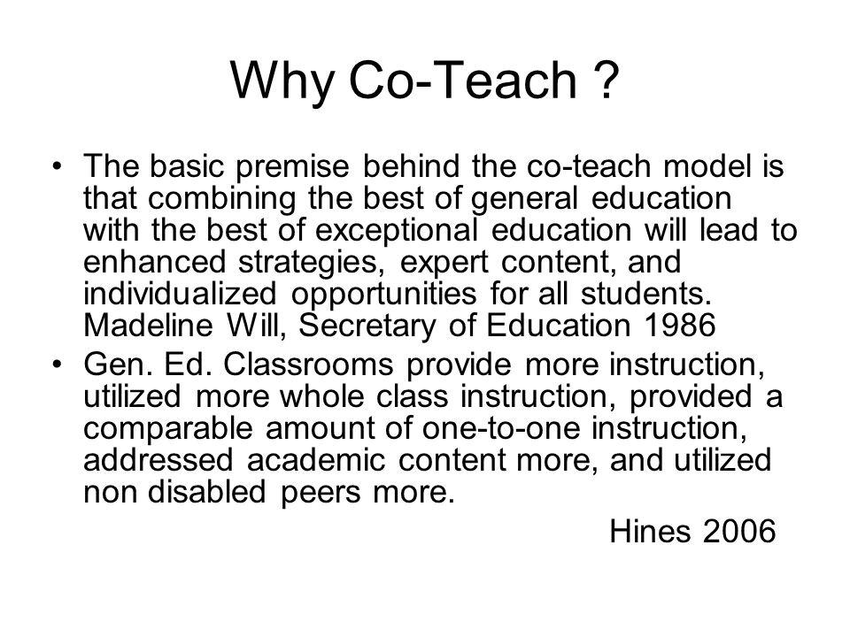 Why Co-Teach