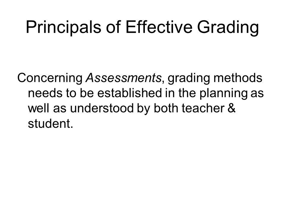 Principals of Effective Grading