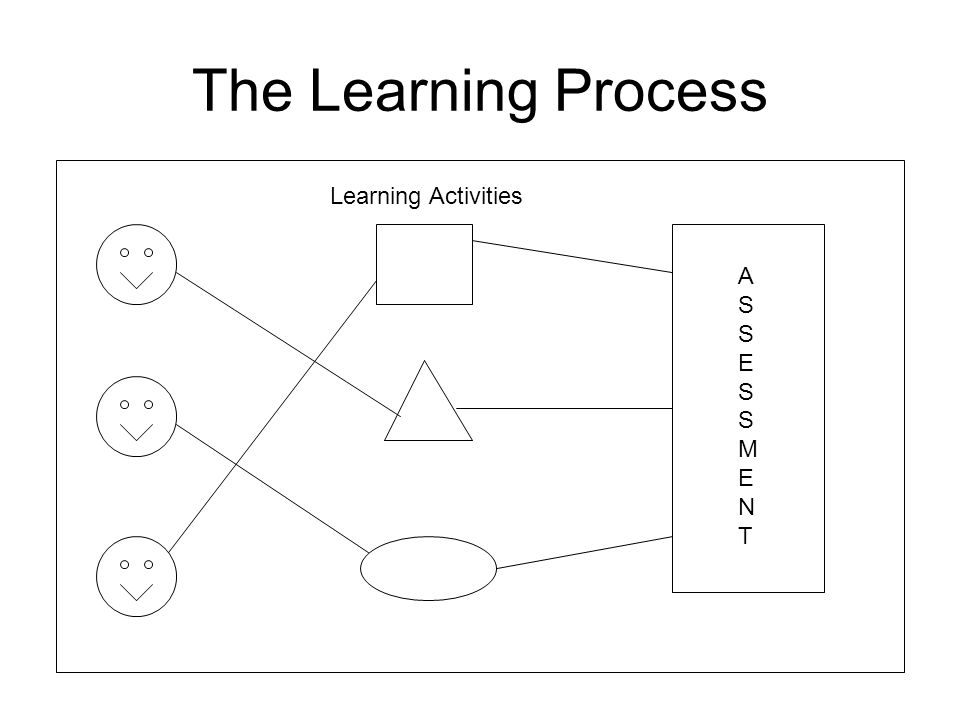 The Learning Process Learning Activities A S S E S S M E N T