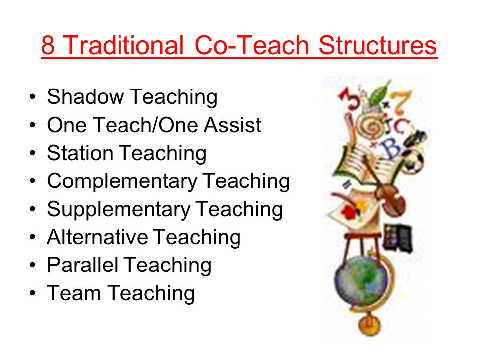 8 Traditional Co-Teach Structures