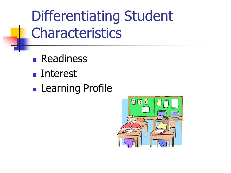 Differentiating Student Characteristics