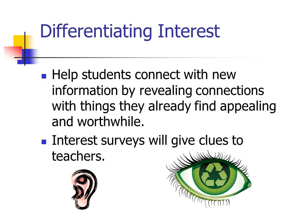 Differentiating Interest