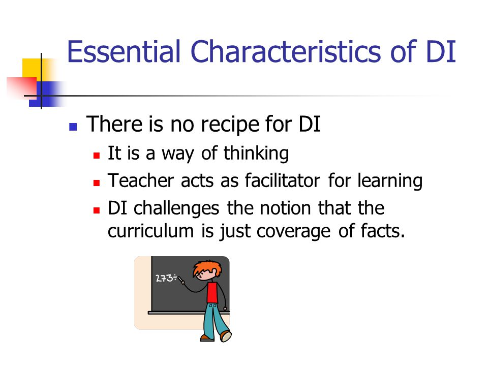 Essential Characteristics of DI