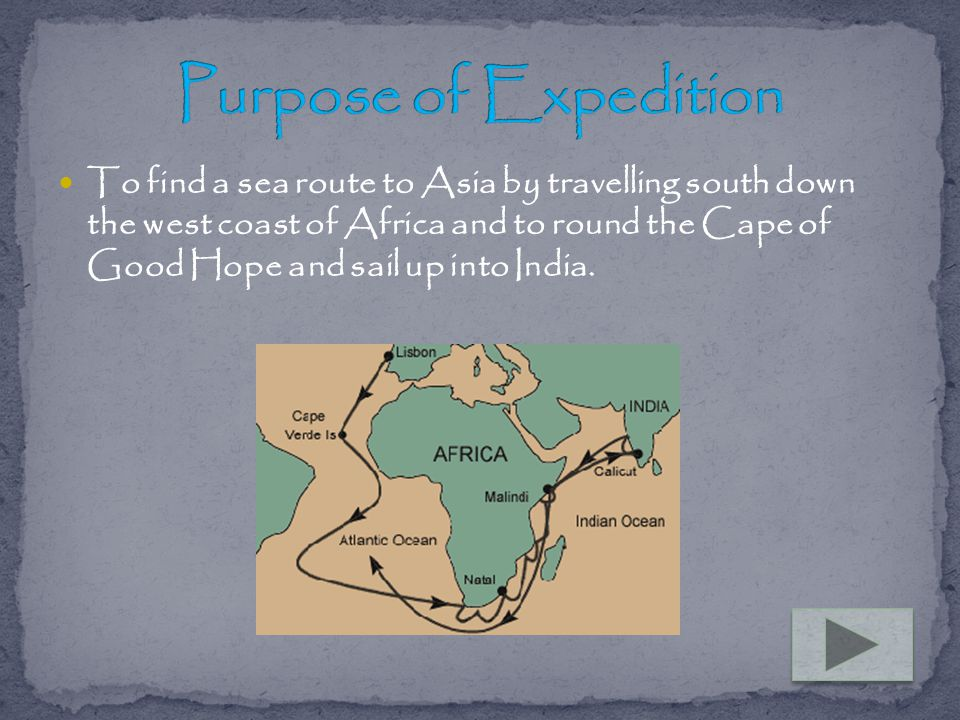 Purpose of Expedition