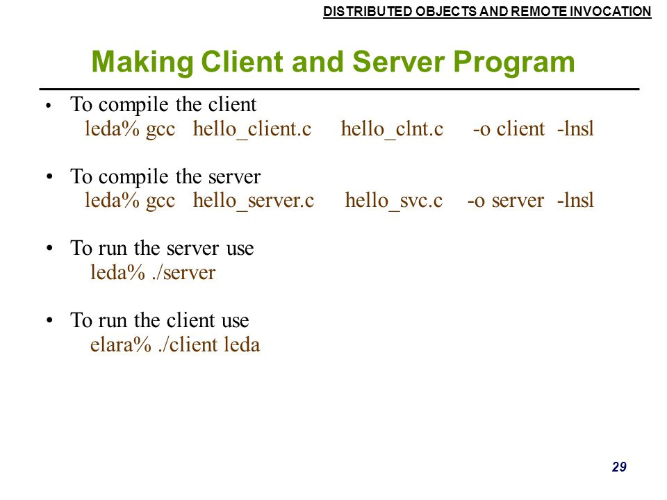 Making Client and Server Program