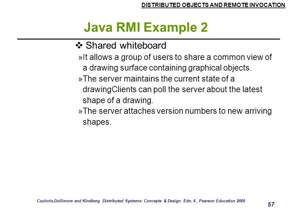 Java RMI Example 2 Shared whiteboard