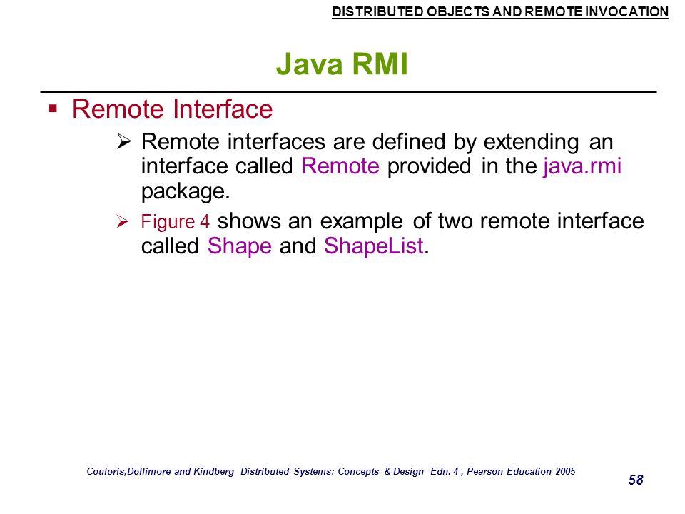 Java RMI Remote Interface