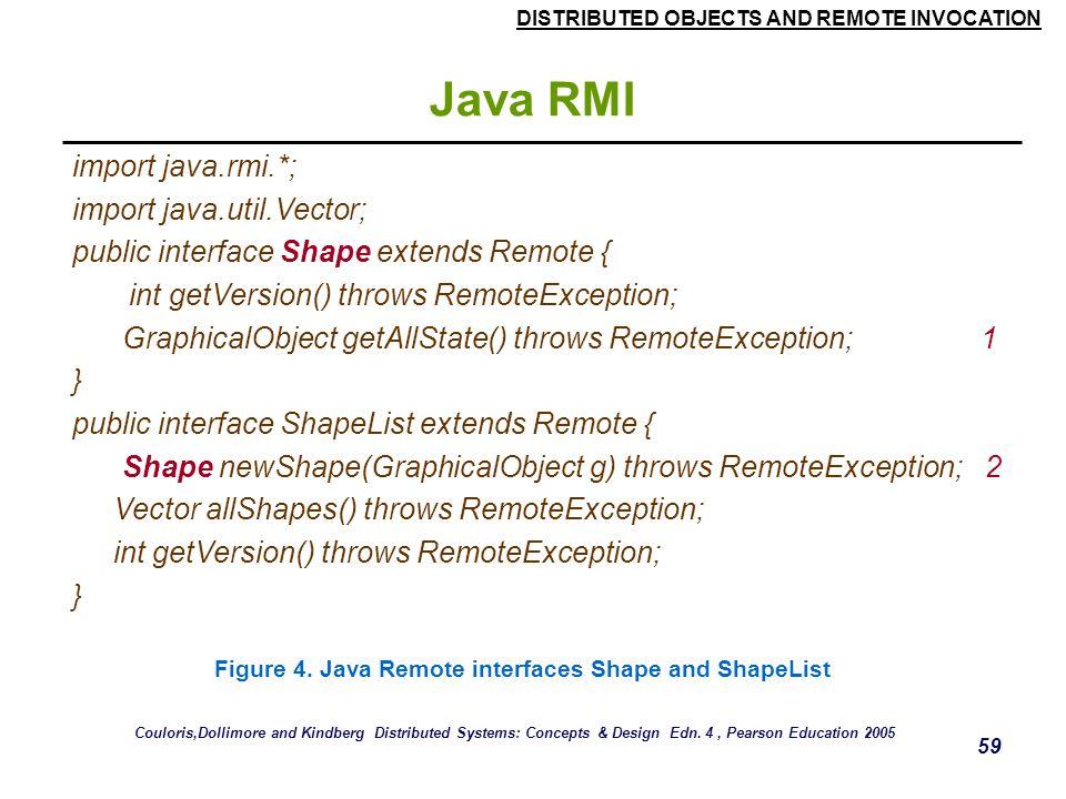 Java RMI import java.rmi.*; import java.util.Vector;