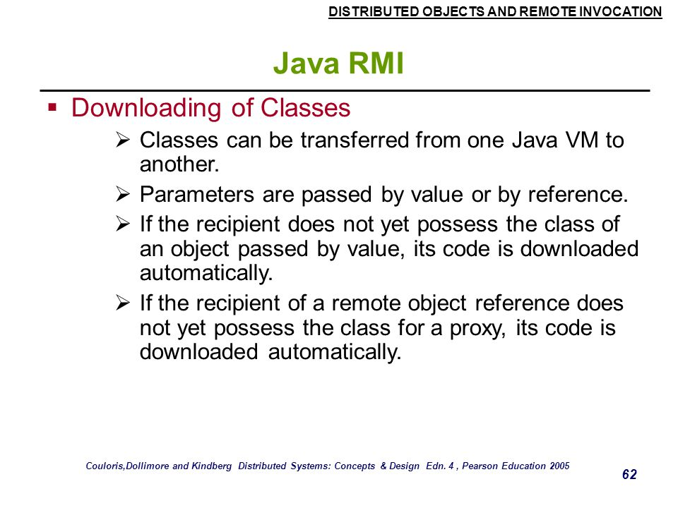 Java RMI Downloading of Classes