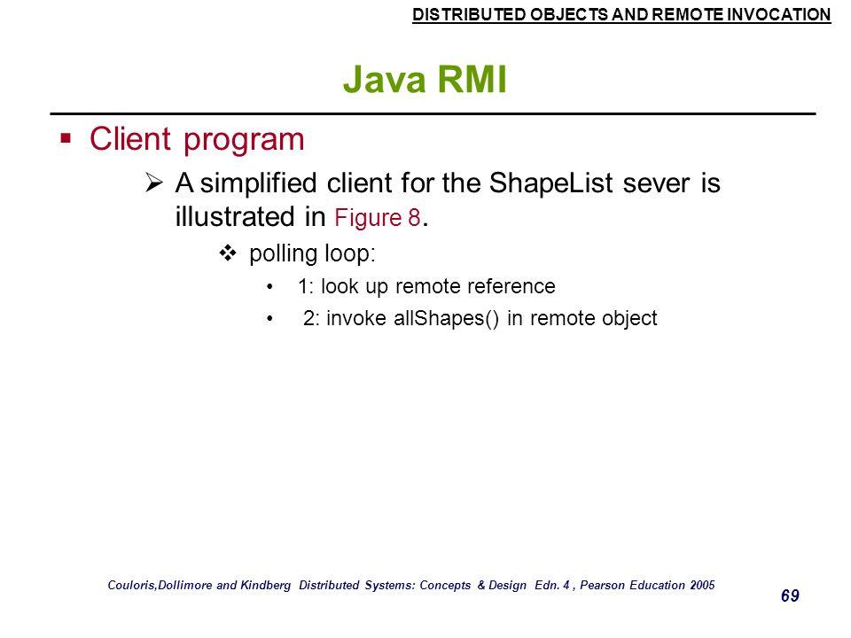 Java RMI Client program