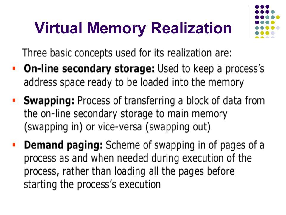Virtual Memory Realization