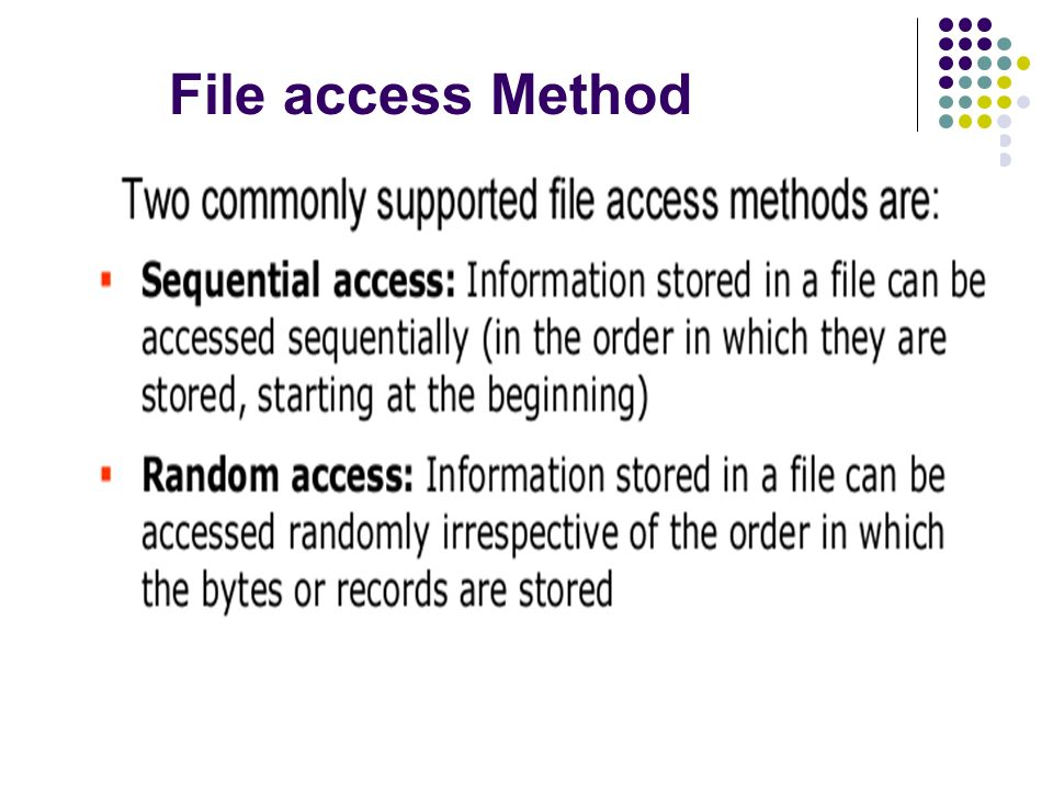 File access Method