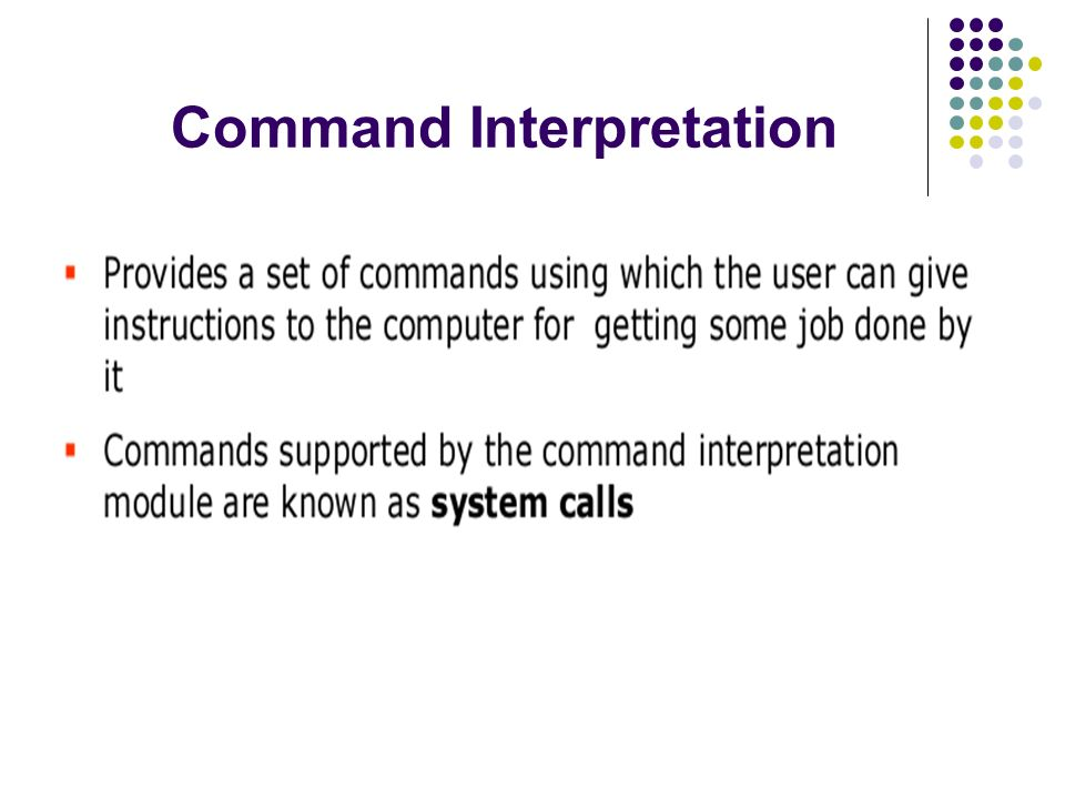 Command Interpretation