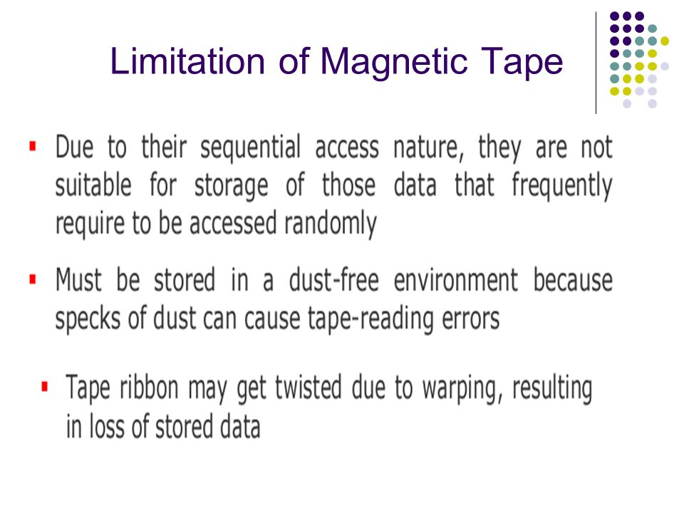 Limitation of Magnetic Tape