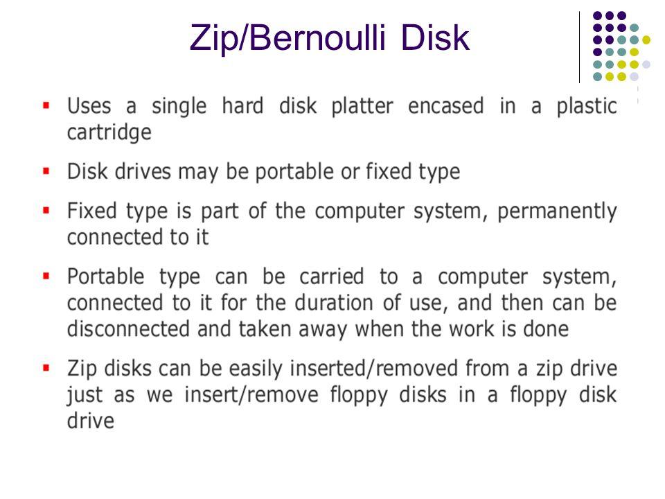 Zip/Bernoulli Disk