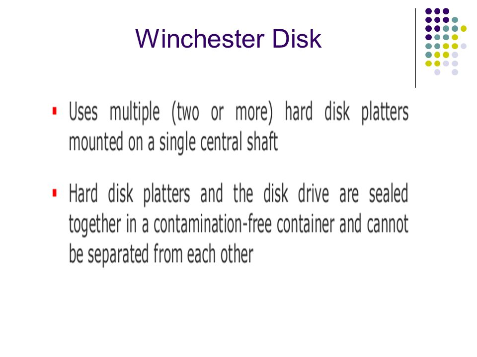 Winchester Disk