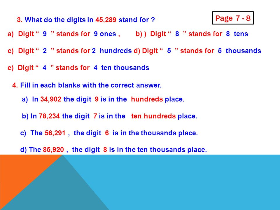 Page What do the digits in 45,289 stand for